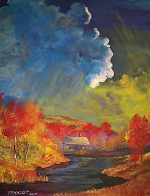 Creekside Home Art Print