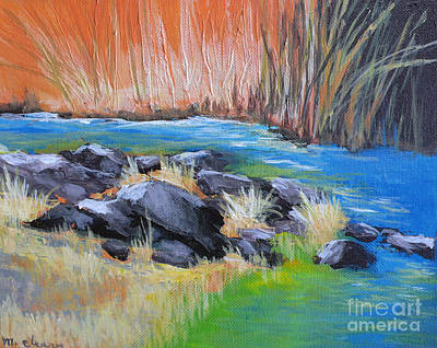 Creekside Art Print by Melody Cleary