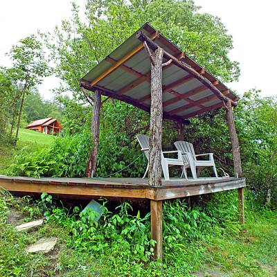 Photograph - Creekside Pavillion And Cabin In Summer by Duane McCullough