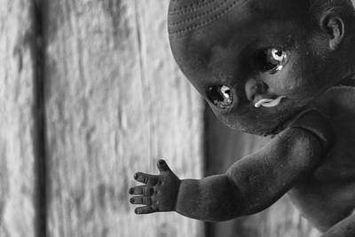 Photograph - Creepy Baby Bw by Scott Campbell