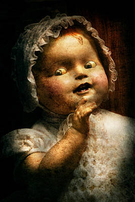 Photograph - Creepy - Doll - Come Play With Me by Mike Savad