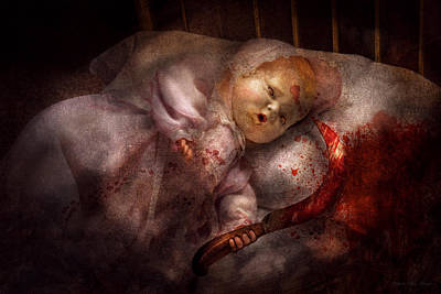 Digital Art - Creepy - Doll - Night Terrors by Mike Savad