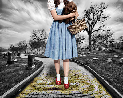 Photograph - Creepy Dorothy In The Wizard Of Oz by Tony Rubino