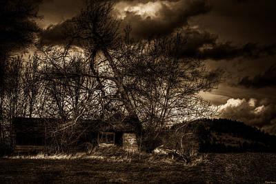 Creepy House One Art Print by Derek Haller