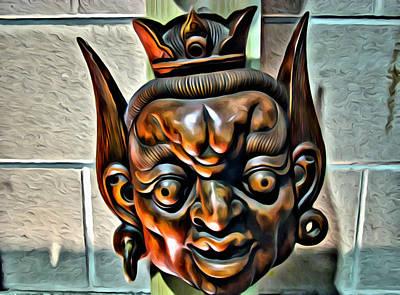 Creepy Mask Two Art Print by Alice Gipson