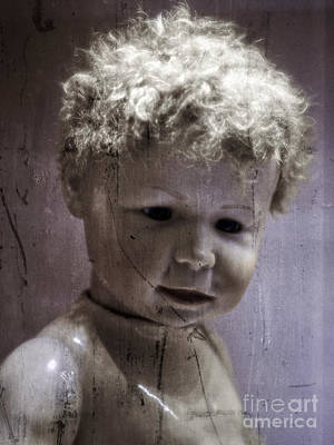 Photograph - Creepy Old Doll by Edward Fielding