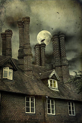 Photograph - Creepy Old House With Tall Chimney's by Ethiriel  Photography