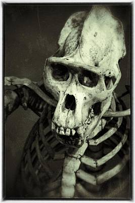 Photograph - Creepy Skull by For Ninety One Days