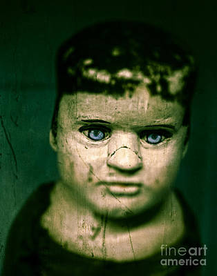 Photograph - Creepy Zombie Child by Edward Fielding