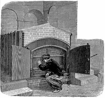 Chaise Photograph - Cremation Furnace by Universal History Archive/uig