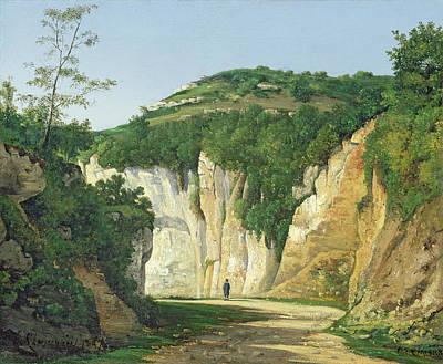 Mountainous Painting - Cremieu, 1847 by Henri-Joseph Harpignies