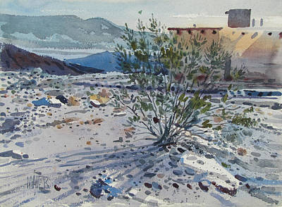 Adobe Painting - Creosote Bush by Donald Maier
