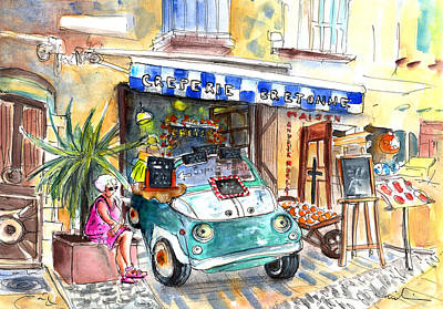 Creperie Painting - Creperie Bretonne In Collioure by Miki De Goodaboom
