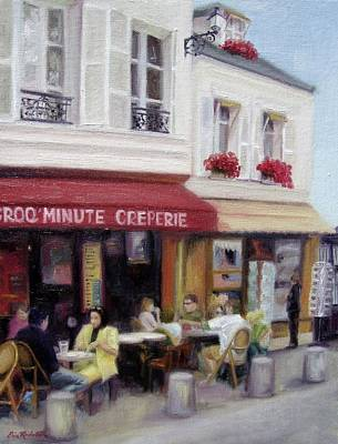 Creperie Painting - Creperie by Erin Rickelton