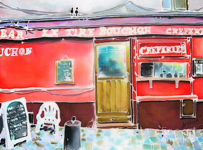 Painting - Creperie by Hisayo Ohta