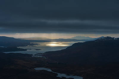 Torridon Wall Art - Photograph - Crepuscular Rays Beams Of Sunlight by Ian Cumming / Design Pics