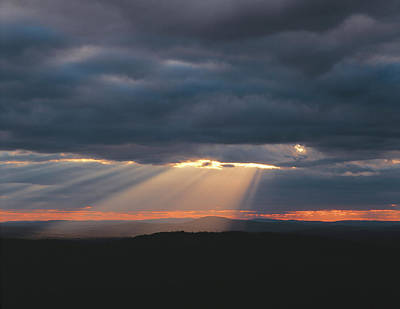 Crepuscular Rays Breaking Art Print by Panoramic Images