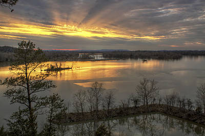 Crepuscular Rays From Cadron Overlook Art Print