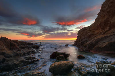 Crescent Bay Cove At Dusk Art Print by Eddie Yerkish