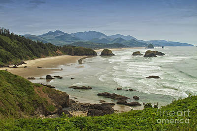 Crescent Beach Oregon Art Print by Carrie Cranwill