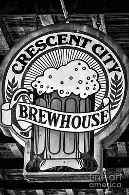 Photograph - Crescent City Brewhouse - Bw by Kathleen K Parker