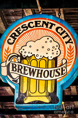 Photograph - Crescent City Brewhouse Sign Nola by Kathleen K Parker