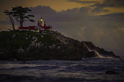 Photograph - Crescent City Lighthouse by PhotoWorks By Don Hoekwater