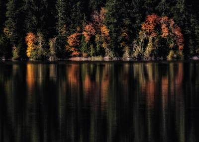 Photograph - Crescent Lake Reflection by Robert Woodward