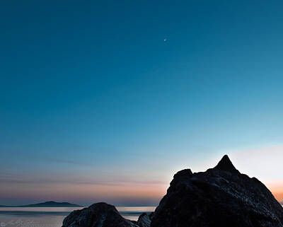 Photograph - Crescent Moon And Venus Above The Beach by Beverly Cash