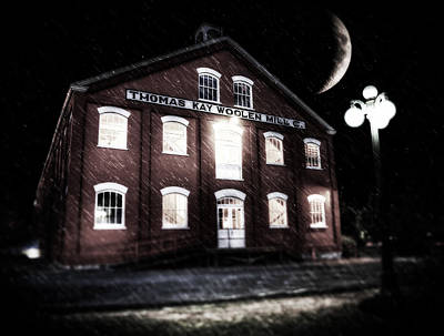Photograph - Crescent Moon At The Mill by Joseph Bowman