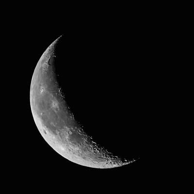 Photograph - Crescent Moon by Erwin Spinner