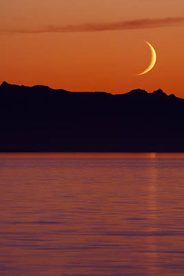 Crescent Moon Art Print by Jim Lundgren