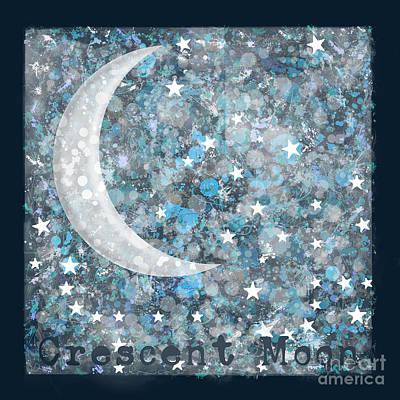 Crescent Moon Digital Art - Crescent Moon by Marion De Lauzun