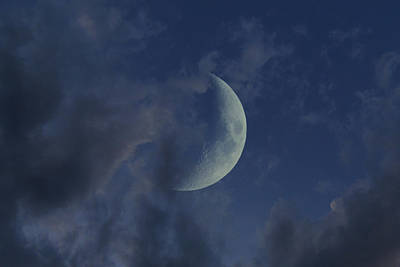 Photograph - Crescent Moon by Raymond Salani III