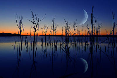 Photograph - The Crescent Moon by Raymond Salani III