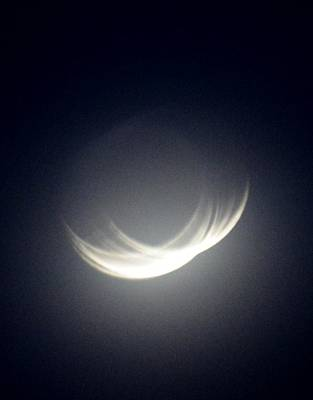 Photograph - Crescent Moon by Tamara Michael
