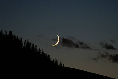 Art Print featuring the photograph Crescent Silhouette by Jeremy Rhoades