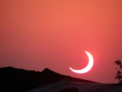 Art Print featuring the photograph Crescent Sunset by Tom DiFrancesca