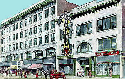 Painting - Crescent Theatre In Syracuse N Y 1910 by Dwight Goss