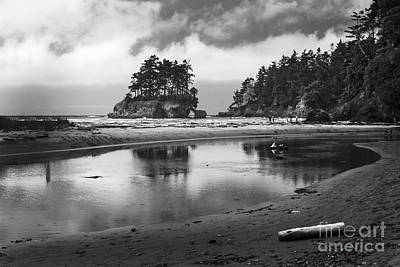 Photograph - Cresent Bay In Black And White by Sonya Lang
