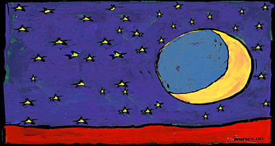 Painting - Cresent Moon by Dale Moses