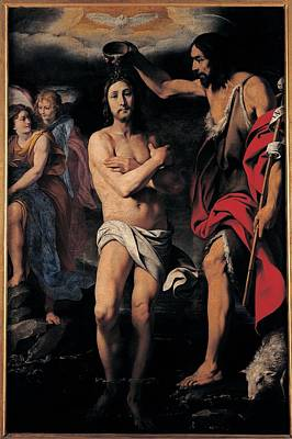 Crespi Daniele, The Baptism Of Christ Art Print by Everett