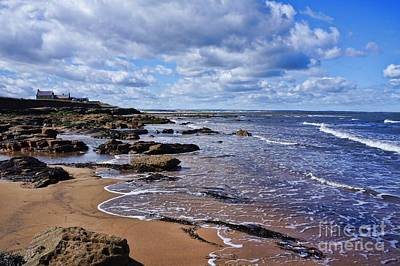 Cresswell Beach And Rocks - Northumberland Coast  Art Print