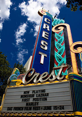 John Daly Photograph - Crest Theater by John Daly