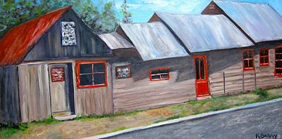 Painting - Crested Butte Alleyway by Kathryn Barry
