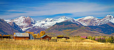 Photograph - Crested Butte Autumn Landscape Panorama by James BO  Insogna