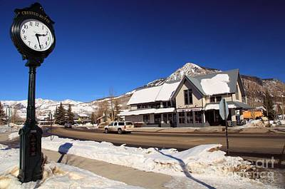 Photograph - Crested Butte Clock Tower by Adam Jewell
