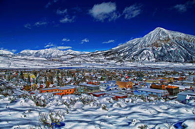 Snow Drifts Photograph - Crested Butte Colorado by Mountain Dreams