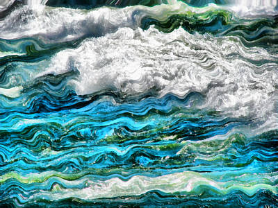 Lake Michigan Digital Art - Cresting Waves Part 2 by Michelle Calkins
