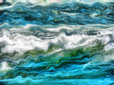 Lake Michigan Digital Art - Cresting Waves Part 3 by Michelle Calkins